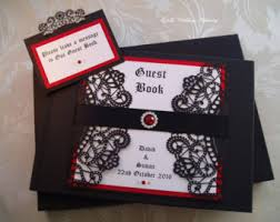 black wedding guest book guest book etsy