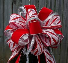 tree top bow for large tree topper in white