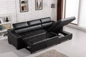 furniture black leather sectional sofa with chaise and storage