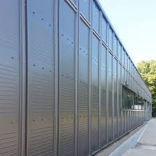 steel cladding stainless steel ribbed lacquered persienne