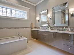 Bathroom Border Ideas by Bathroom Flat Panel Cabinets Gray Walls Gray Cabinets Gray Tile
