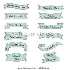 Nautical Themed Ribbon - nautical marine maritime themed ribbon banners stock vector