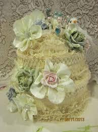 Chic Flower Msgardengrove1 Shabby Chic Flower Book Lace Cake Box Altered Egg
