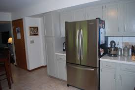 Colors To Paint Kitchen Cabinets by Kitchen Furniture Charming White And Grey Combinated Color Painted