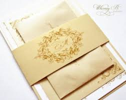 gold wedding invitations wedding invitations ivory wedding invitation vintage wedding