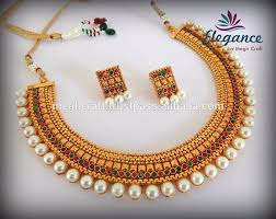 south indian pearl jewellery traditional one gram gold plated