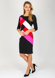 coloured dress joseph ribkoff colour block pencil dress multi coloured mcelhinneys