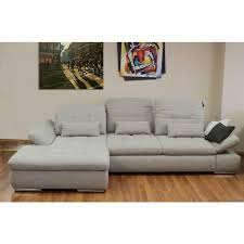 Left Sectional Sofa Alpine Sectional Sofa In Beige Brown Fabric Left Chaise