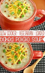 crock pot veggie loaded baked potato soup