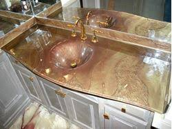 Glass Vanity Tops Glass Bath Vanity Top Integrated Sink Artisan Crafted Home