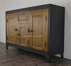 buffet de cuisine en bois meuble de cuisine ancien 14 buffet vintage m233tal et bois