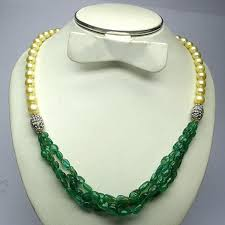 diamond emerald necklace images Emerald necklace pearl statement necklace rosecut diamond etsy jpg