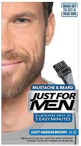 mens low lights for gray hair buy just for men mustache beard brush in color gel light medium