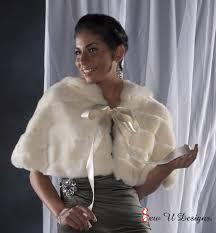 faux fur capelet bride s cape winter wedding coat