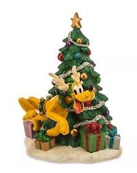 disney pluto decoration with reindeer tree and