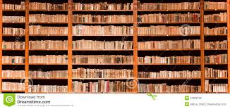 old books in wooden bookcase royalty free stock photos image