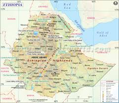 Africa Time Zone Map by Ethiopia Map Map Of Ethiopia