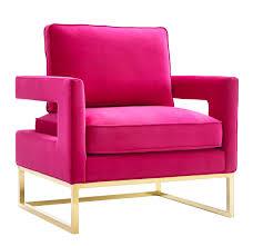 Navy Velvet Cushion Avery Modern Pink Velvet Stainless Steel Cushion Back Chair