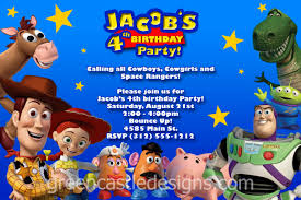 Mcdonalds Invitation Card Toy Story Birthday Invitations Cloveranddot Com