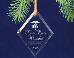 personalized graduation ornaments diamond ornament etsy