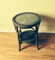 round wicker end table protect the top of a wicker end table house design