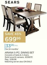 sears furniture kitchen tables delivered sears kitchen table sets 5 pc dining set