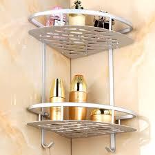 Wire Bathroom Shelving by 2017 Twin Double Corner Wire Shower Caddy Shelf Basket Rack