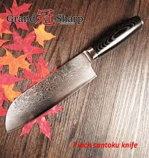 new 7 inch santoku knife 67 layers japanese damascus stainless