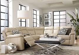 Leather Recliner Sectional Sofa Sofa Beds Design Marvellous Contemporary Off White Leather