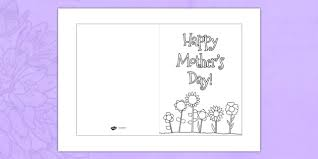 mothers day cards s day card template colouring design s day
