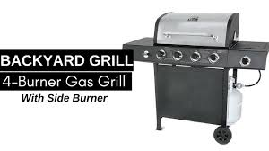 backyard grill 4 burner gas grill with side burner youtube
