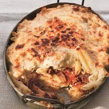 moroccan spiced pastitsio with lamb and feta recipe epicurious com