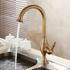 deck mount kitchen faucet buy asbestos deck mount rotatable antique brass single handle