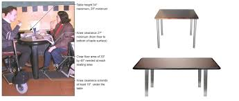 restaurant table base levelers americans with disabilities act compliance petersen furniture
