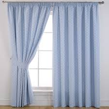 Pastel Coloured Curtains Dotty Blue Blackout Curtains Things For A New Home
