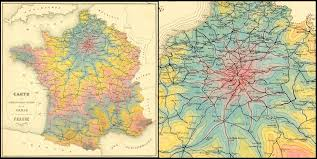 Alsace Lorraine Map Early Isochrone Map Of Travel Times From Paris By Rail In 1882