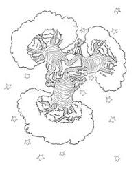 click little prince cleaning volcanoes coloring page for printable