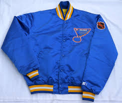 vintage early 90s st louis blues satin starter jacket s xl