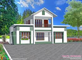 1500 sq ft 3 bedroom sloping roof home kerala home design