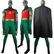 Halloween Costume Shirt by Unisex Dc Comics Superhero Robin Suit Teen Titans Go Cosplay