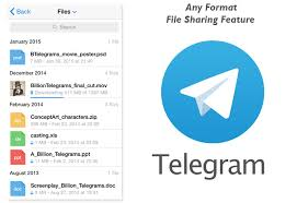 telegram messenger offers large file sharing up to 1 5gb while you