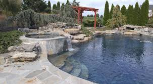Lazy River Pools For Your Backyard by Custom Pool Builders Lighting Decks Monmouth County Nj New