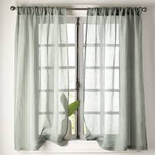 sheer linen window curtain panel the company store
