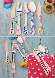 diy washi tape utensils sugar u0026 cloth