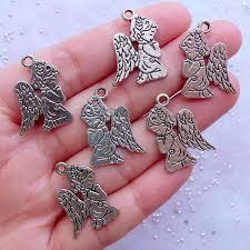 communion jewelry guardian angel charms silver praying angel drawing pendant