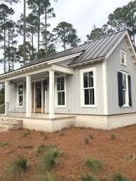 Modern Farmhouse Colors Metal Roof And White Farmhouse 7 652 Batten And Board Siding
