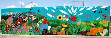 Garden Mural Ideas Garden Murals Fantastic Food Garden Mural At Park Outdoor Garden