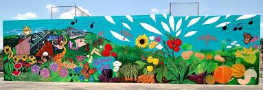 Garden Mural Ideas Garden Murals Fantastic Food Garden Mural At Park Outdoor Garden