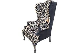 Velvet Wingback Chair Design Ideas Black Velvet Wingback Chairs Dining Chairs Design Ideas Dining