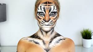 tiger halloween makeup tutorial youtube